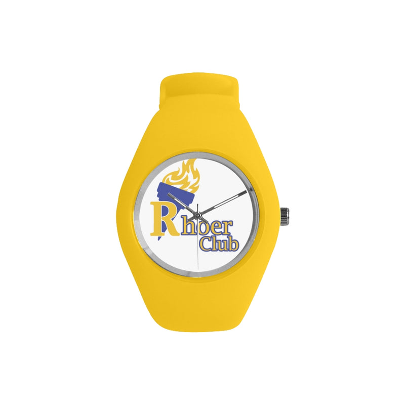 Rhoers Club Gold Silicone Watch