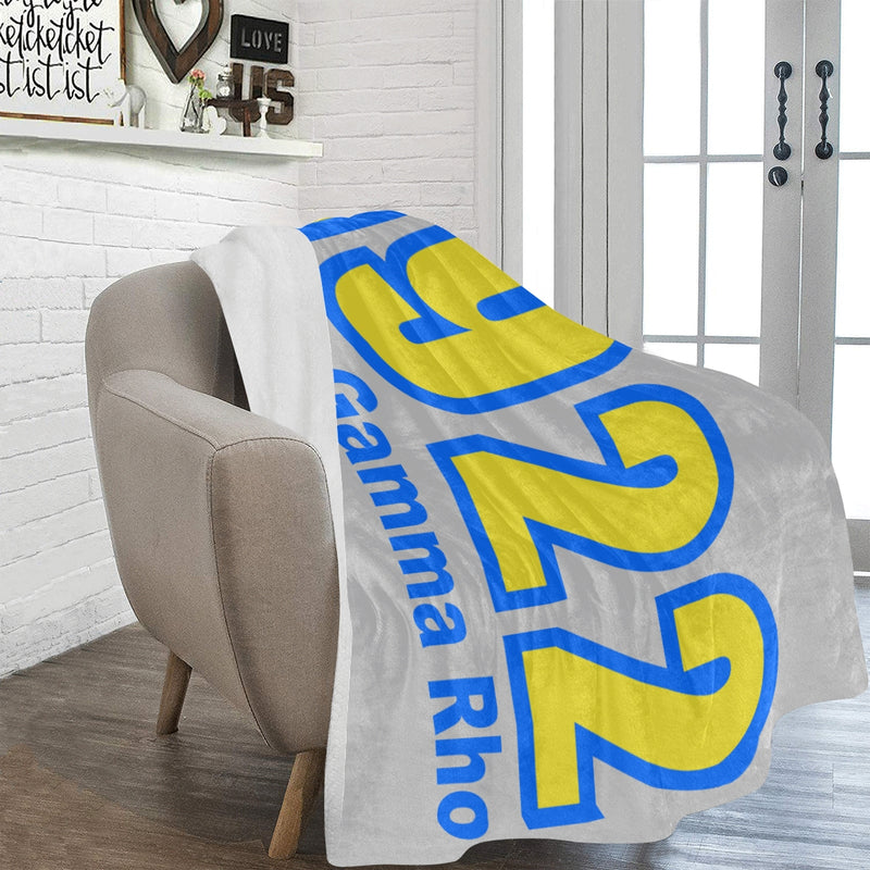 SGRho 1922 Light Gray 60 x 80 Soft Micro-fleece Blanket (This item will take up to 16 business days to ship)