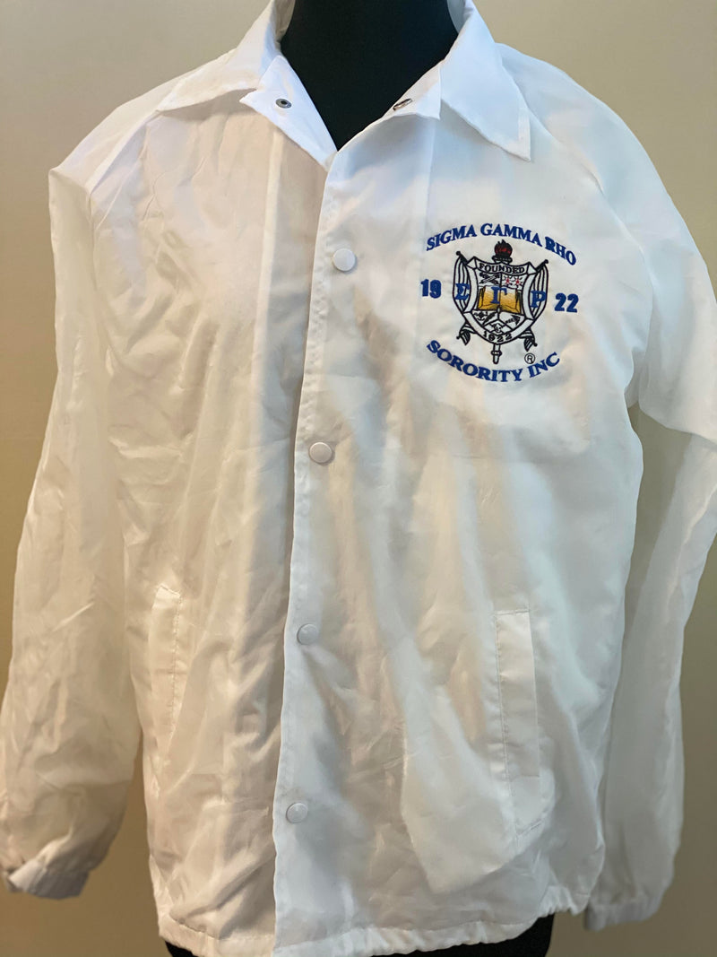 Clearance: White XL Clearance Jacket (Shield Only)