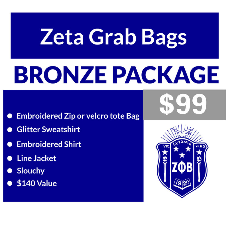B. Single Order Zeta Grab Bag Bronze Package (16 business day turnaround)