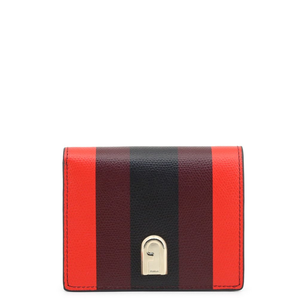 Multicolor Leather Wallet with Visible Logo