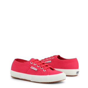 Pink Fabric Sneakers with Round Toe and Metal Eyelet