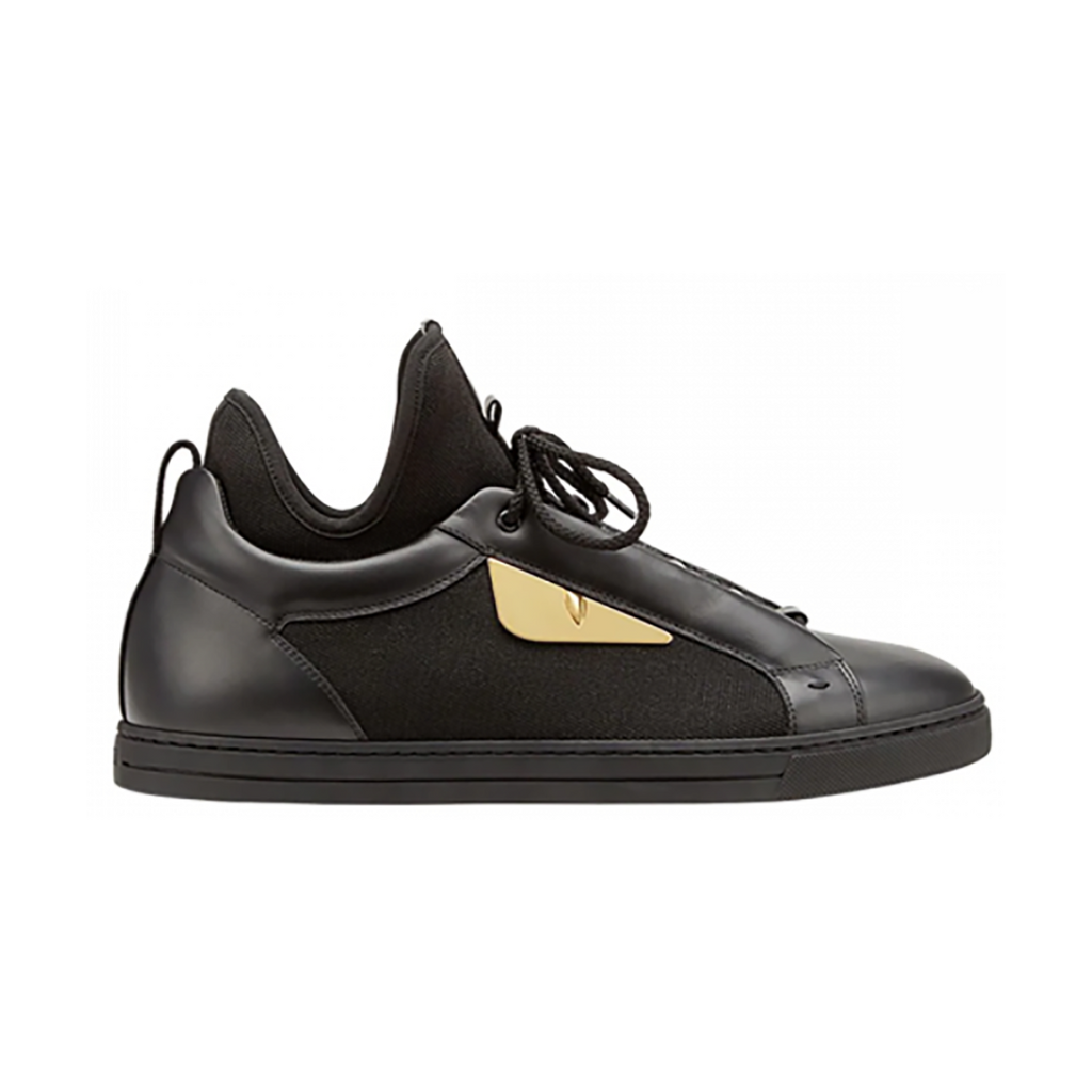 FENDI BUGS EYES TRAINERS IN BLACK
