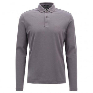 Hugo Boss LONG SLEEVE POLO SHIRT-GREY