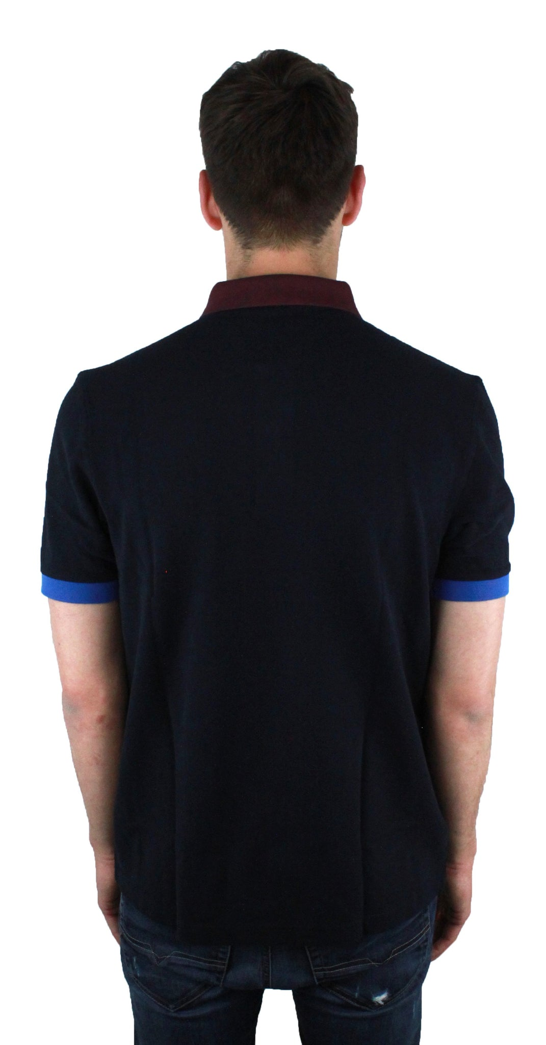 Fred perry M9552 608 Colour Block Pique Navy Polo Shirt - Wholesale Designer Clothing