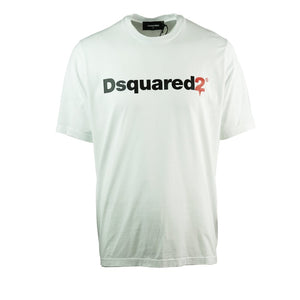 Dsquared2 S74GD0565 S22427 100 Slouch Fit White T-Shirt