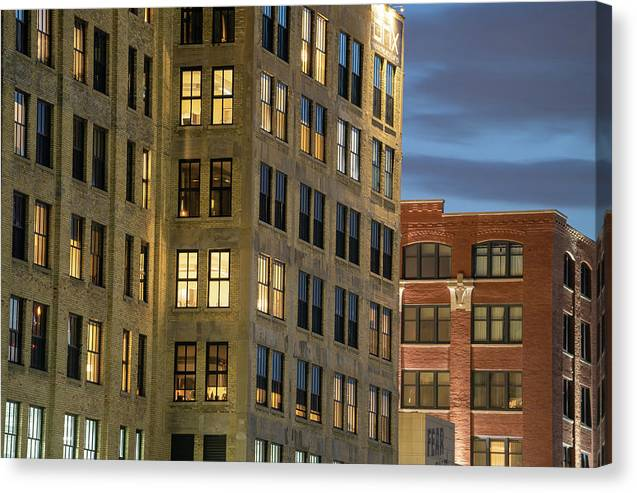 Cream City Brick building - Canvas Print