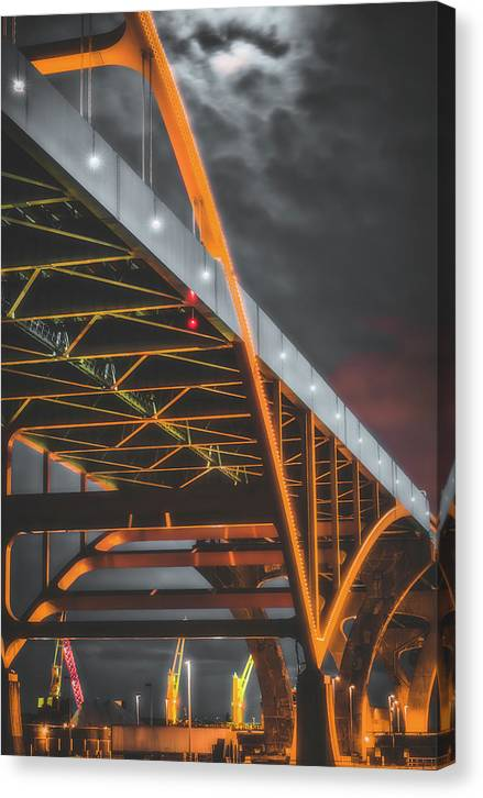 Hoan Bridge Tall and Gloomy - Canvas Print