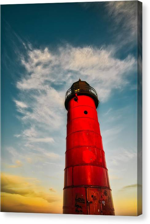 MKE lighthouse - Canvas Print