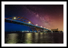 Load image into Gallery viewer, night over Milwaukee - Framed Print