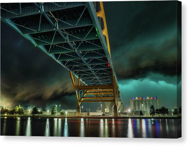 Stormy Bridge - Canvas Print