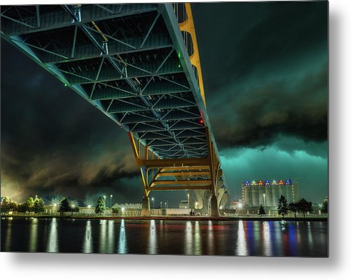 Stormy Bridge - Metal Print