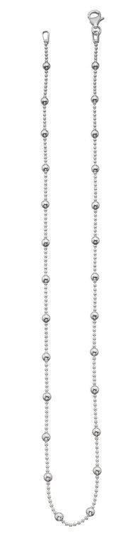 Beginnings Sterling Silver Ball Chain Necklace Length 41cm