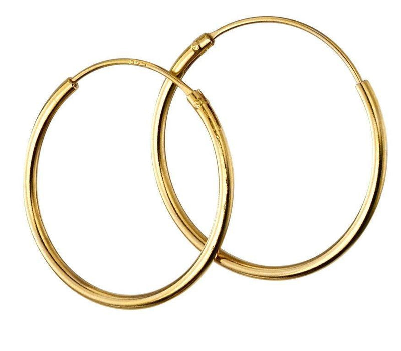 Beginnings Gold Plated Sterling Silver 16mm Hoop Earrings
