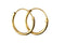 Beginnings Gold Plated Sterling Silver 10mm Hoop Earrings