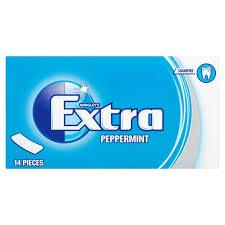 Extra Peppermint Chewing Gum Sugar Free 14 Sticks