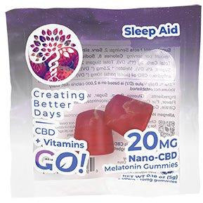CBD GO! Melatonin Gummies 20 MG 2 Count FAT FREE!
