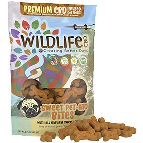 Wildlife CBD Sweet Pet-Tato Bites Dog Treats 150 MG 60 Count