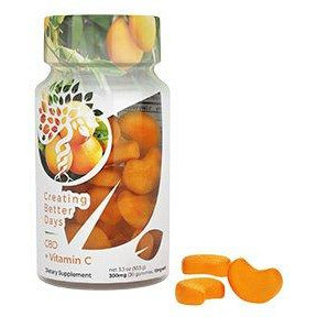CBD Vitamin C Gummies 300 MG 30 Count FAT FREE!