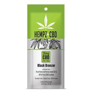 1 packet Hempz & CBD Black Bronzer DHA and Natural Bronzer .5oz