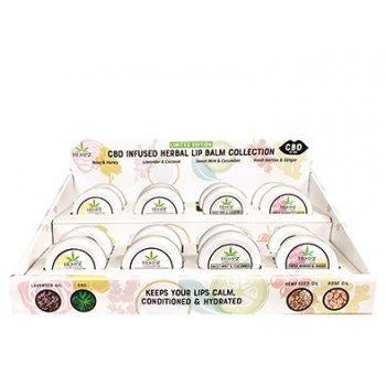 Hempz CBD Lip Obsessed Lip Balm 16 Count with Display