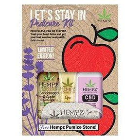 Hempz Let's Stay In CBD Pedicure Kit 4 Count LIMITED EDITION