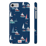 Navy Sailboats Phone Case