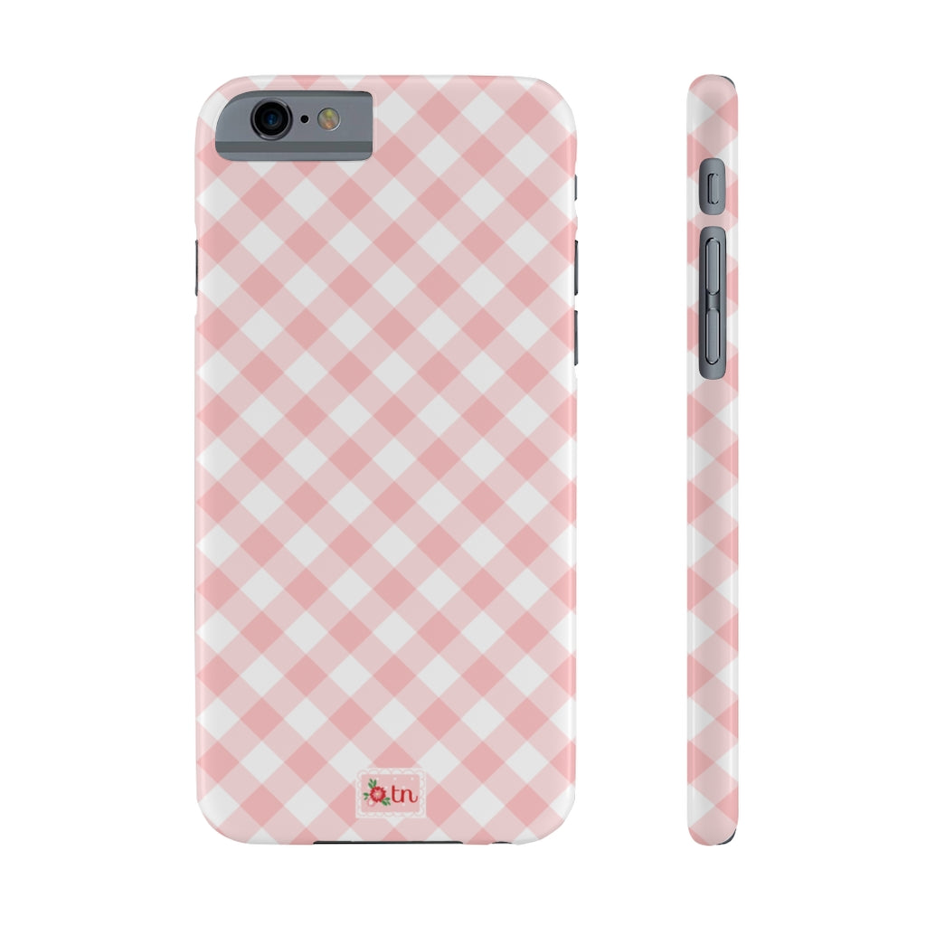 Pink Gingham Phone Case