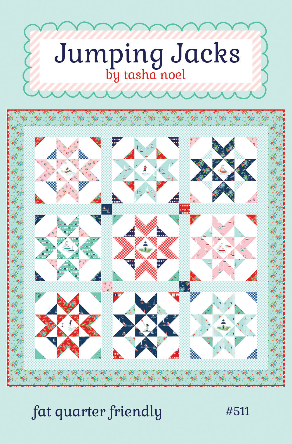 Jumping Jacks Quilt Pattern - PDF