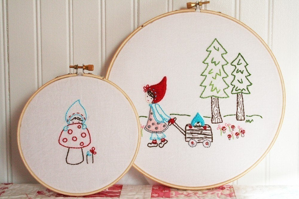 Woodland Walk Embroidery PDF PATTERN