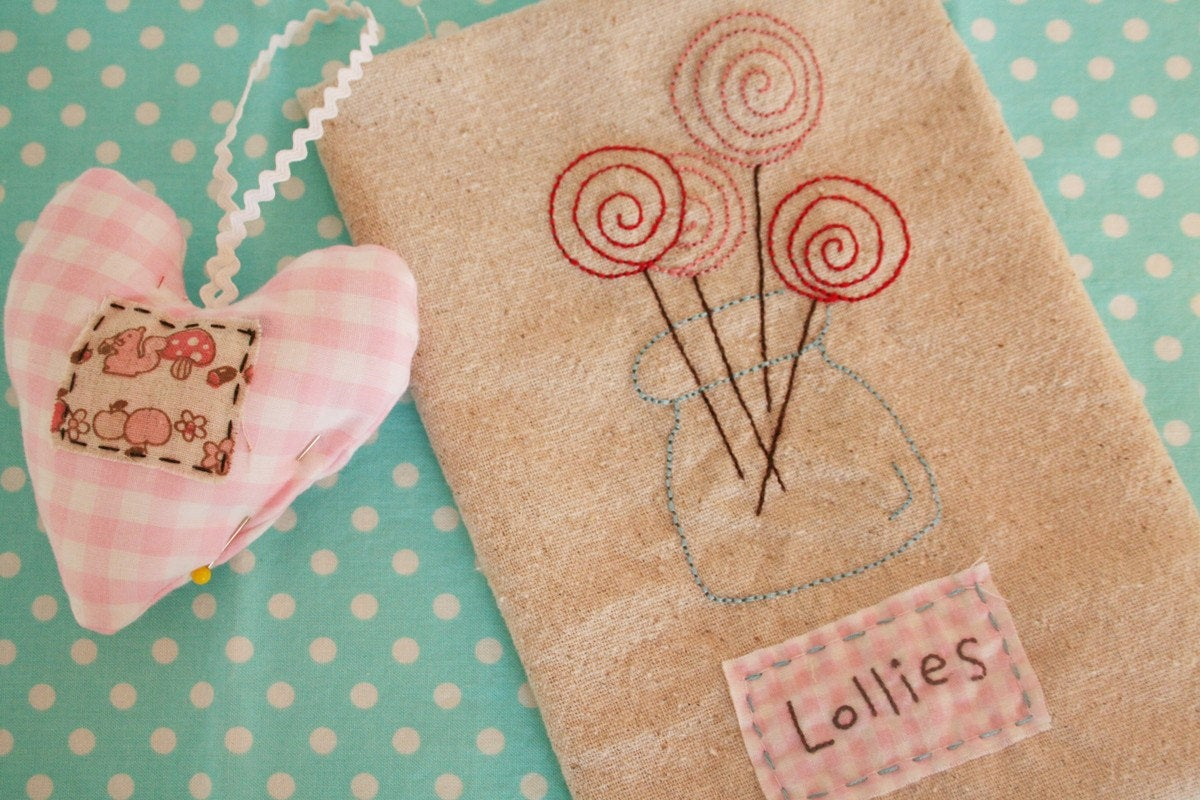 Lollies Embroidery Pattern