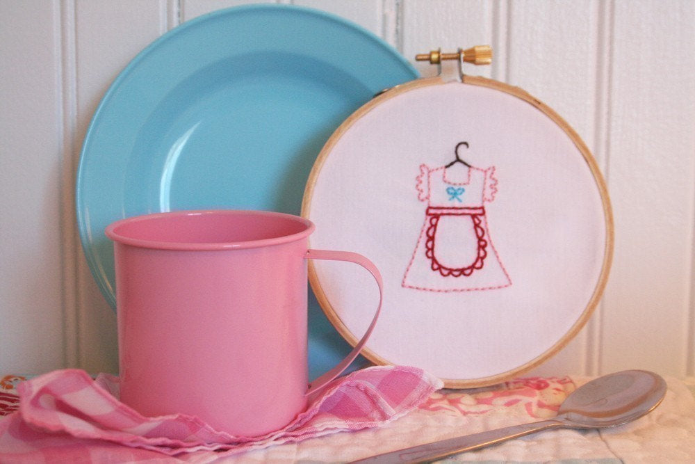 Dresses Embroidery Pattern - Set of 5 - PDF