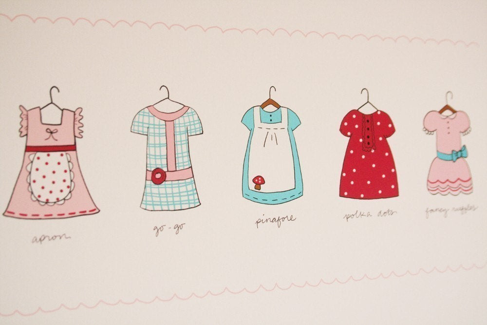 Favorite Dresses Illustration