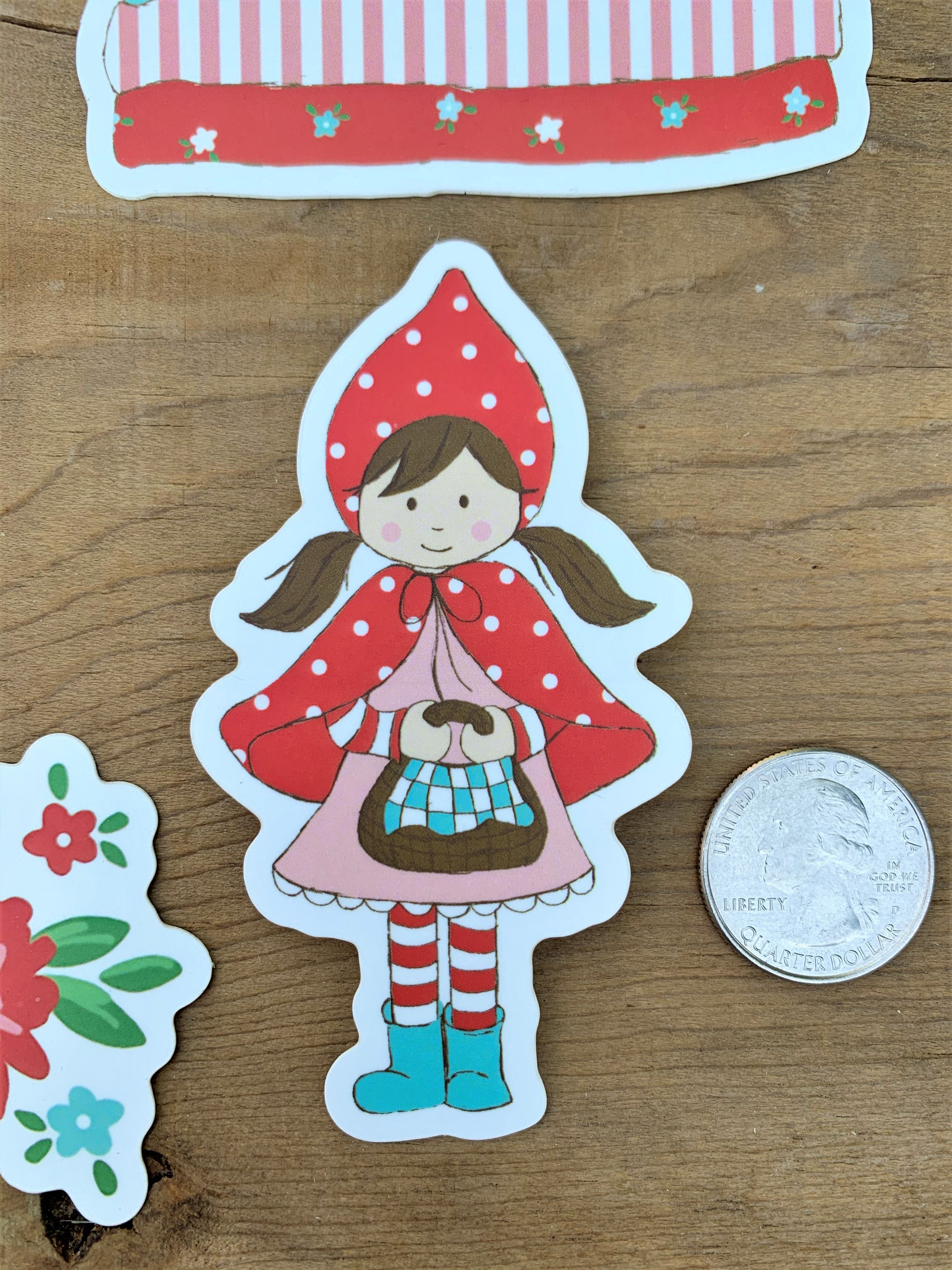 Little Red Riding Hood Vinyl Sticker