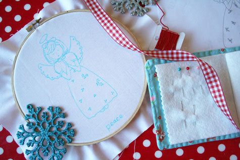 Christmas Angel Embroidery Pattern - PDF DOWNLOAD