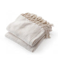 Neutral Corded Tassle Throw