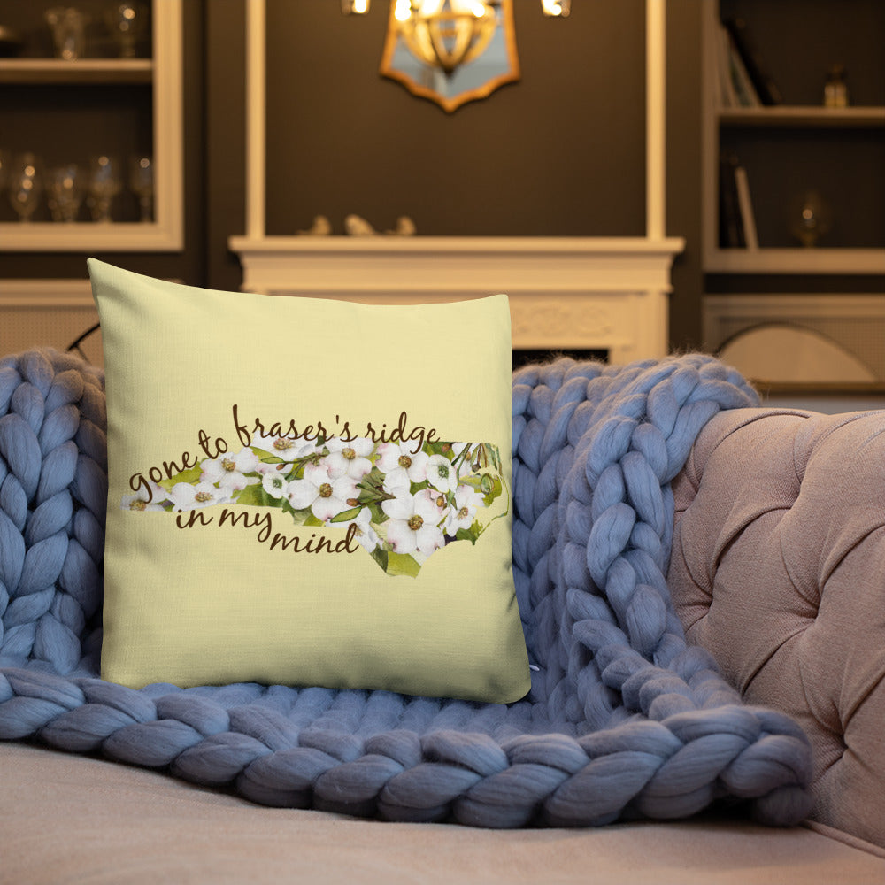 Gone To Fraser's Ridge Premium Pillow (available in three sizes)