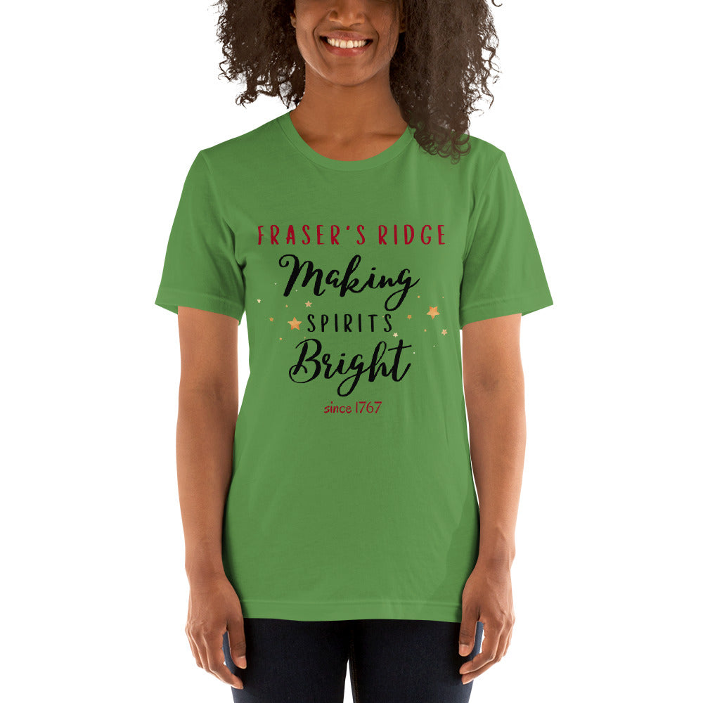 Making Spirits Bright Short-Sleeve Unisex T-Shirt (available in 3 colors)