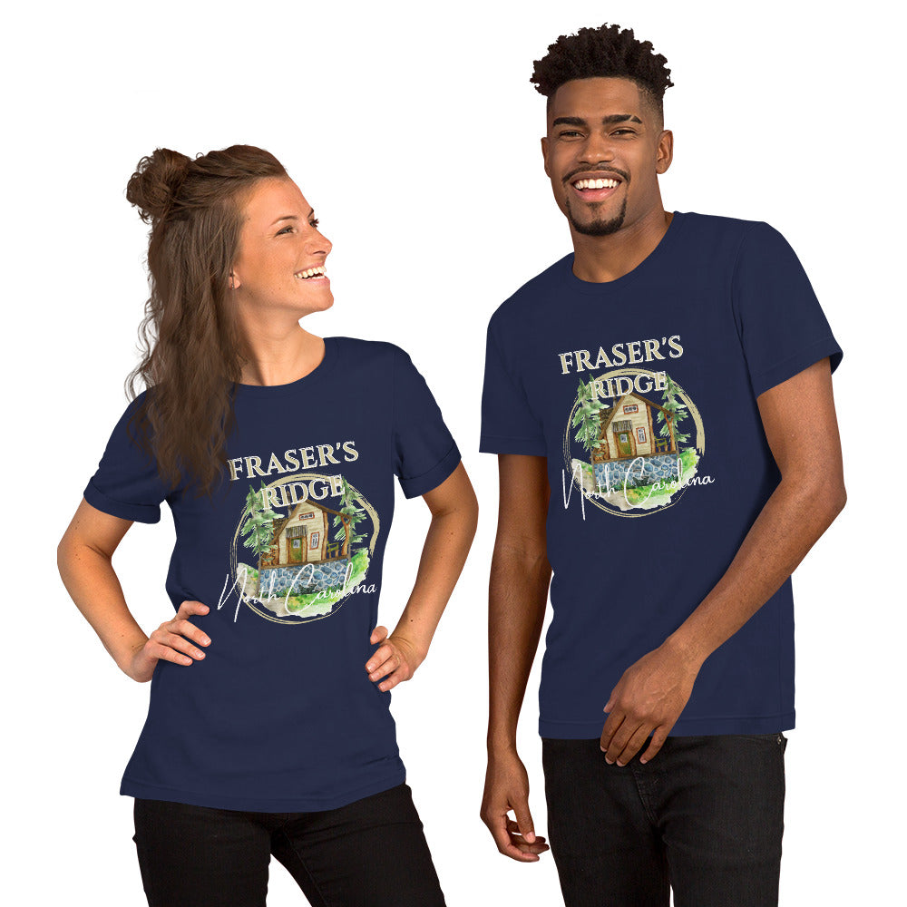 Fraser's Ridge North Carolina Short-Sleeve Unisex T-Shirt (available in 7 colors)