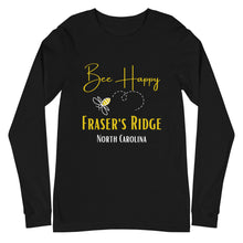 Load image into Gallery viewer, Bee Happy Unisex Long Sleeve Tee (available in 4 colors)