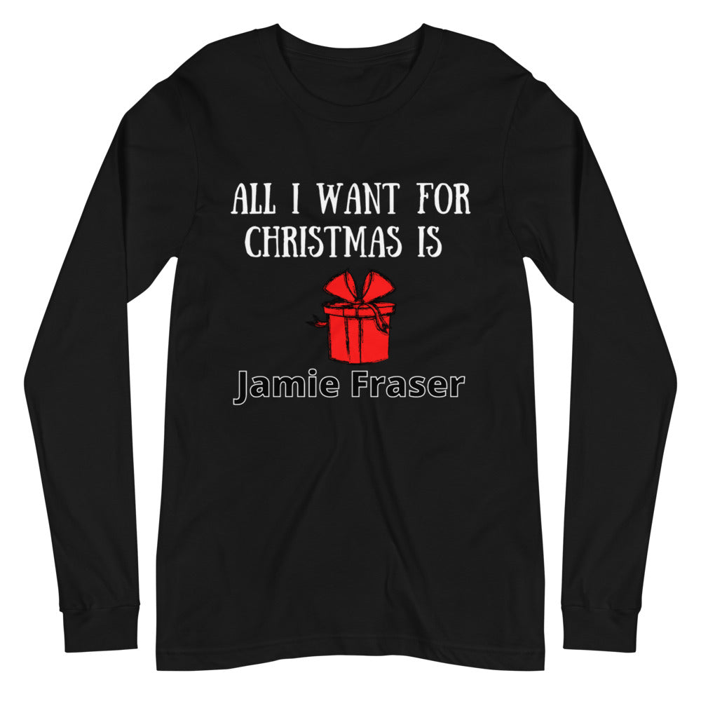 All I Want For Christmas Unisex Long Sleeve Tee (available in 2 colors)