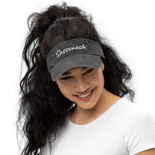 Load image into Gallery viewer, Embroidered Sassenach Denim Visor (3 colors)