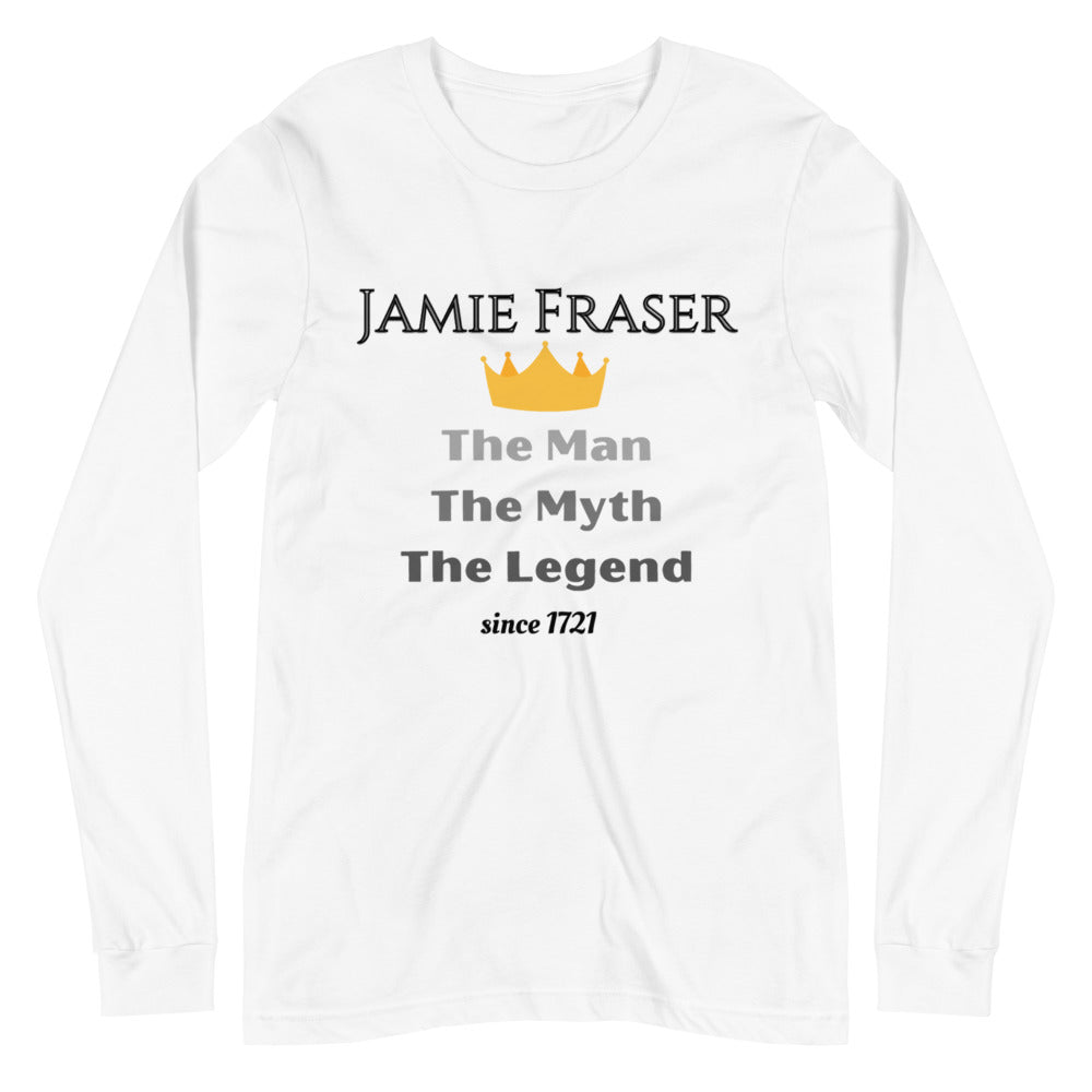 The Man The Myth The Legend Unisex Long Sleeve Tee (White only)