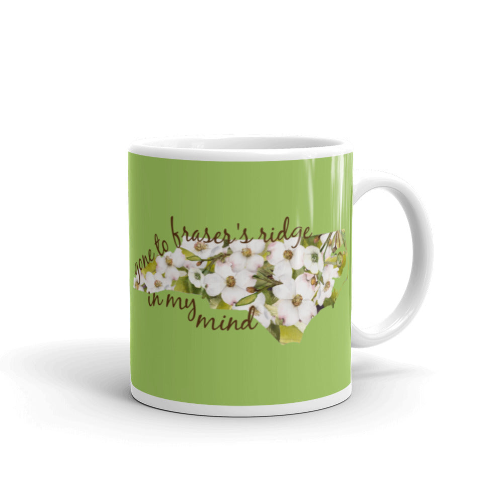 Gone to Fraser's Ridge In My Mind glossy mug (two sizes available)