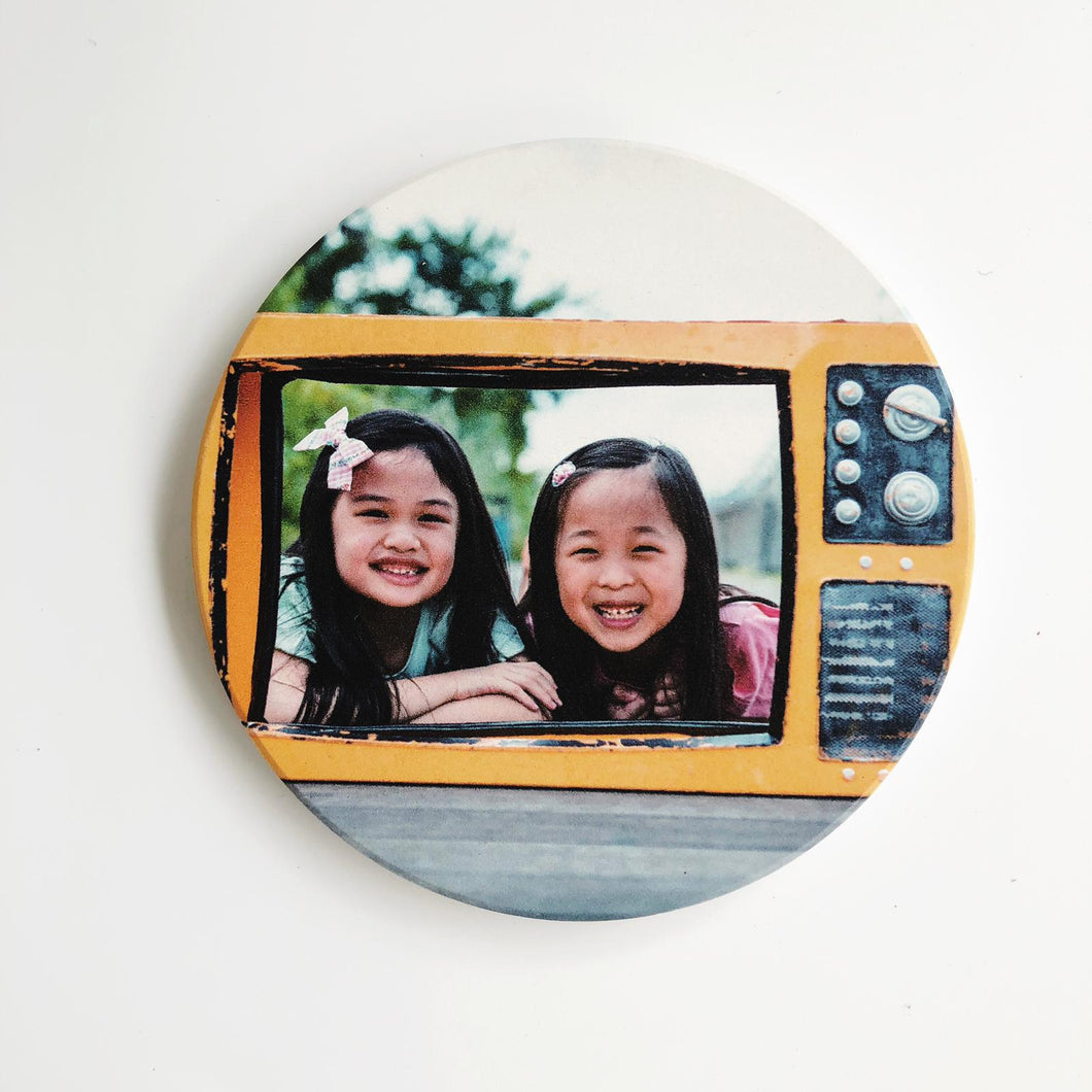 Personalised Ceramic Coaster Photo Coaster Gift Coasters Print Your Own Design
