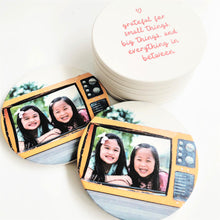 Load image into Gallery viewer, Personalised Ceramic Coaster Photo Coaster Gift Coasters Print Your Own Design