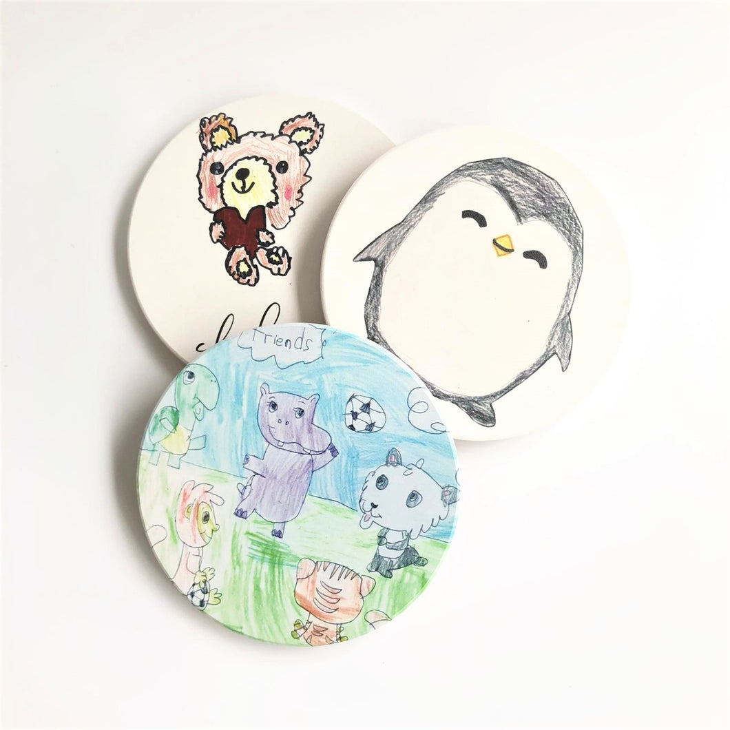 Personalised Child's Drawing Ceramic Coasters