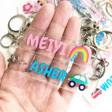 Load image into Gallery viewer, Personalized Acrylic Name Keychain - Custom Made