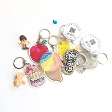 Load image into Gallery viewer, Customised Children's Drawing Keychain and Magnet