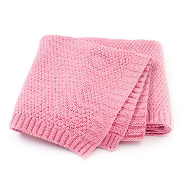 KNIT PET BLANKET - PINK